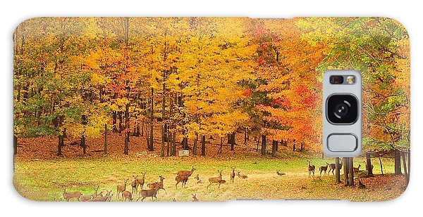 White Tail Deer Herd Galaxy Case