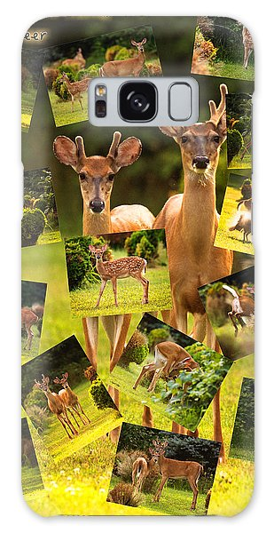 Galaxy Case featuring the photograph White-tailed Collage by Angel Cher