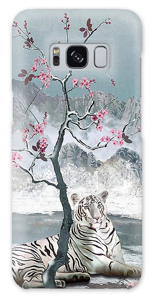 White Tiger And Plum Tree Galaxy Case