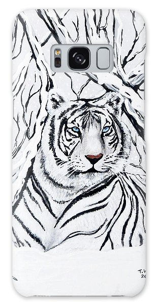 White Tiger Blending In Galaxy Case