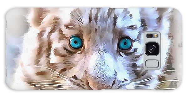 White Tiger Cub Galaxy Case