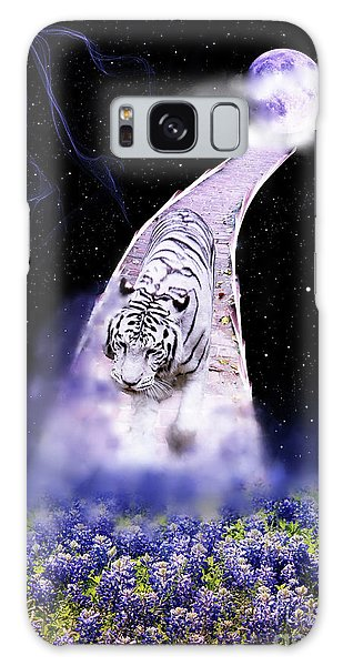 White Tiger Fantasy Galaxy Case