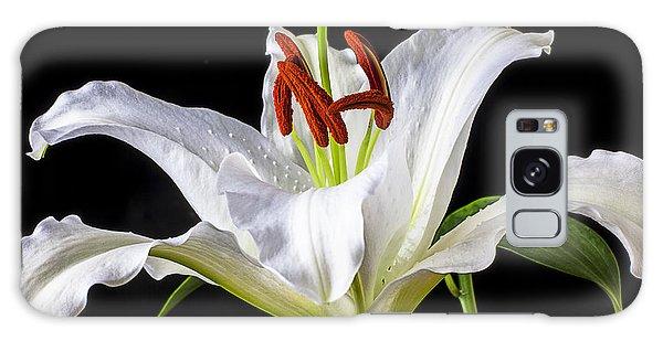 White Tiger Lily Still Life Galaxy Case