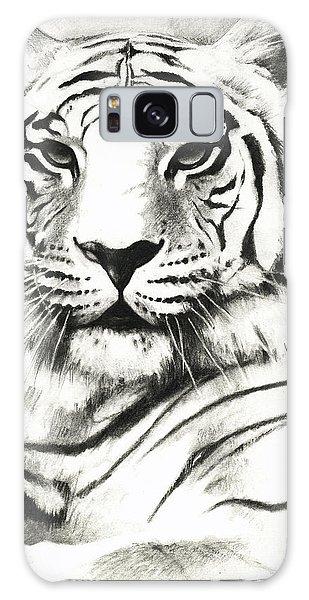 White Tiger Portrait Galaxy Case