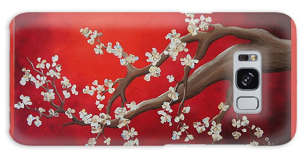 Cherry Blossom Painting Galaxy Case