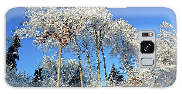 White Trees Clear Skies Galaxy Case