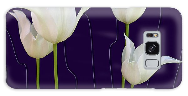 White Tulips For A New Age Galaxy Case