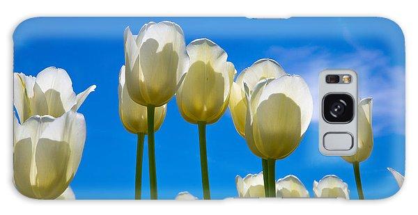 White Tulips  Galaxy Case by John Roberts