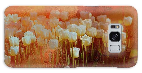White Tulips Galaxy Case