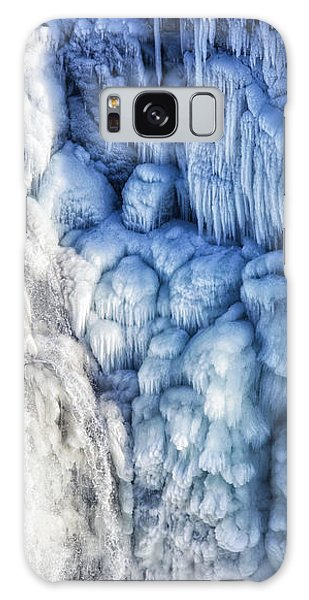 White Water And Blue Ice Gullfoss Waterfall Iceland Galaxy Case by Matthias Hauser