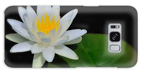 White Water Lily Galaxy Case