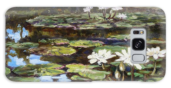White Waterlilies In Tower Grove Park Galaxy Case