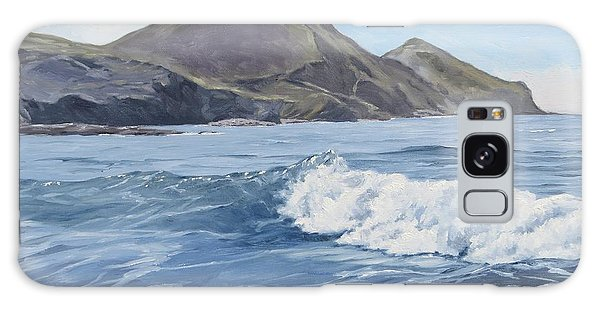 Galaxy Case featuring the painting White Wave At Crackington  by Lawrence Dyer