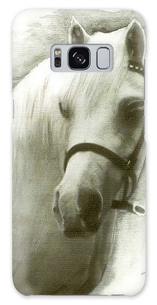 White Welsh Pony Galaxy Case