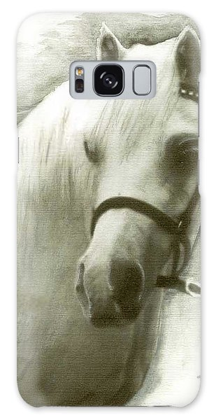White Welsh Pony Galaxy Case