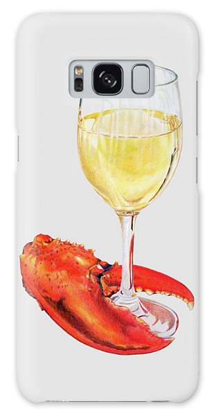 White Wine And Lobster Claw Galaxy Case