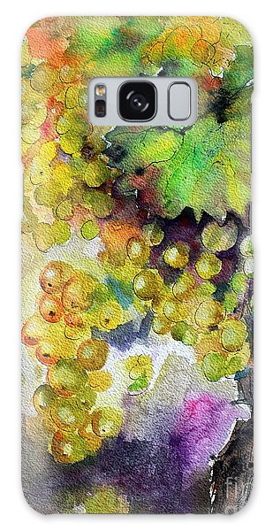 White Wine Grapes Vineyard Watercolor Painting Galaxy Case