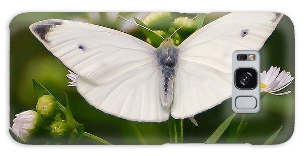 White Wings Of Wonder Galaxy Case