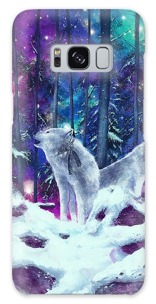 Feather Stars Galaxy Case - White Wolves by Bekim M