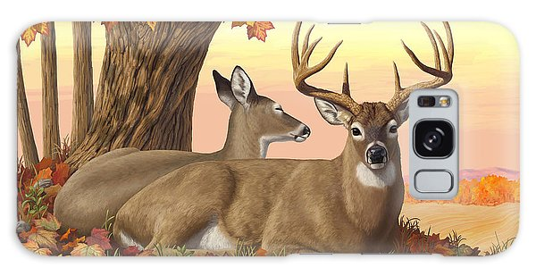 White-tailed Deer Galaxy Case - Whitetail Deer - Hilltop Retreat by Crista Forest