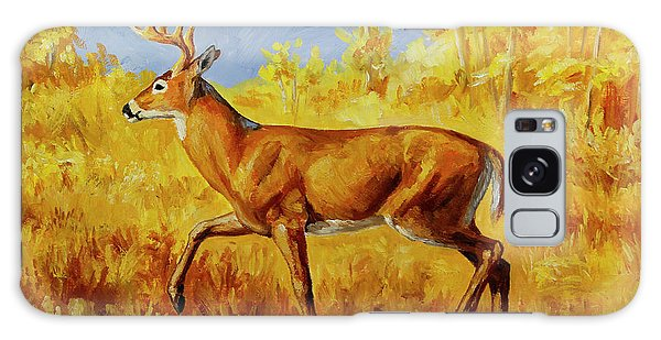 White-tailed Deer Galaxy Case - Whitetail Deer In Aspen Woods by Crista Forest