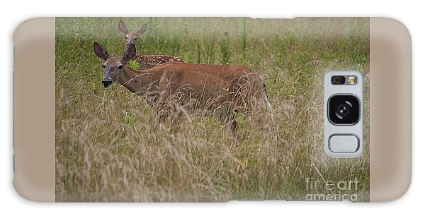 Whitetail With Fawn 20120707_09a Galaxy Case by Tina Hopkins