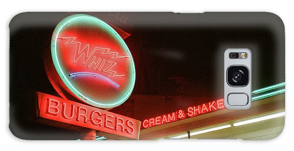 Galaxy Case featuring the photograph Whiz Burgers Neon, San Francisco by Frank DiMarco