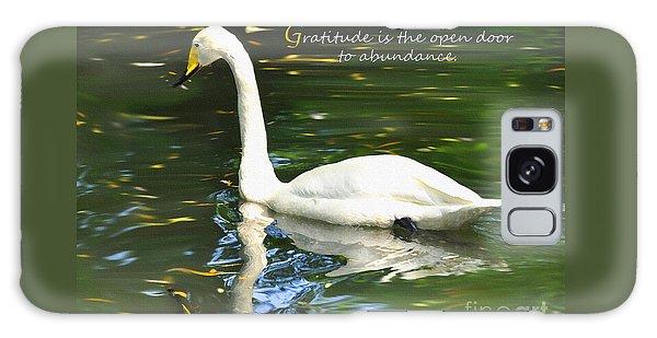Whooper Swan Gratitude Galaxy Case