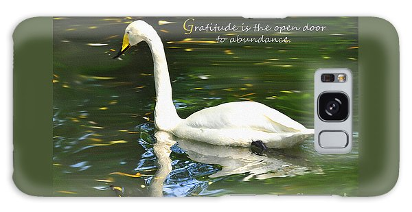 Whooper Swan Gratitude Galaxy Case by Diane E Berry