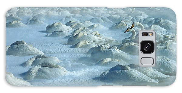 Whooper Swans In Snow Galaxy Case
