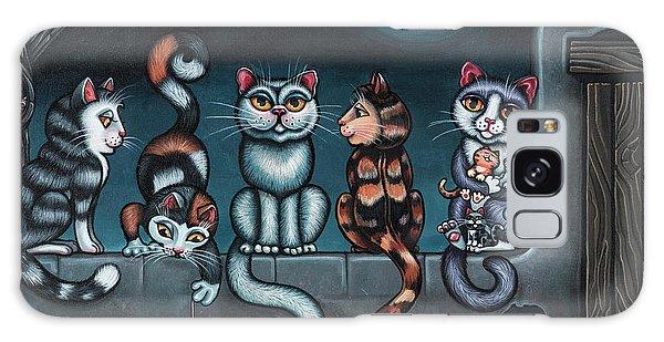 Calico Cat Galaxy Case - Whos Your Daddy Cat Painting by Victoria De Almeida
