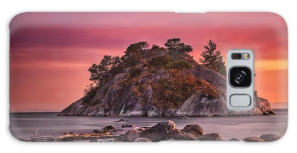 Whytecliff Island Sunset Galaxy Case