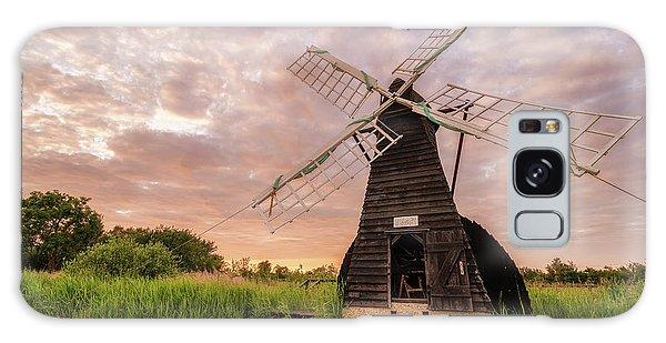 Wicken Wind-pump At Sunset II Galaxy Case