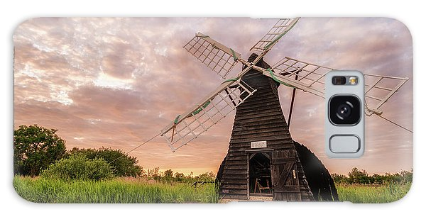 Wicken Wind-pump At Sunset II Galaxy Case