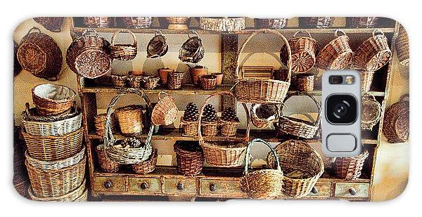 Picnic Table Galaxy Case - Wicker Baskets by David Smith