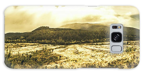 No-one Galaxy Case - Wide Open Tasmania Countryside by Jorgo Photography - Wall Art Gallery