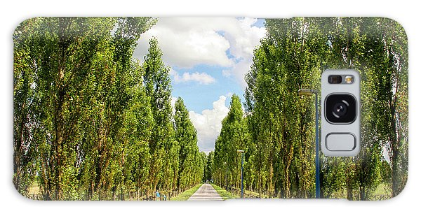 Wide Road With Trees Galaxy Case by Patricia Hofmeester