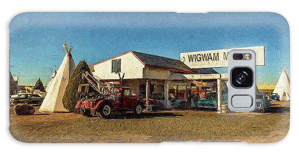 Galaxy Case featuring the painting Wigwam Motel by Lou Novick