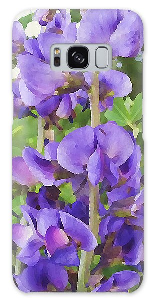 Galaxy Case featuring the digital art Wild Blue False Indigo by Shelli Fitzpatrick