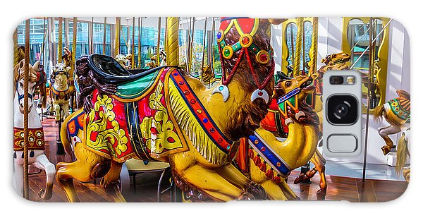 County Fair Galaxy Case - Wild Camel Carrousel Ride by Garry Gay