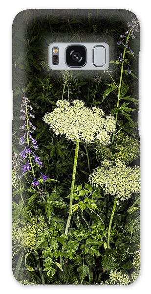 Wild Celery And Larkspur Galaxy Case
