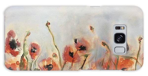 Wild Corn Poppies Underpainting Galaxy Case