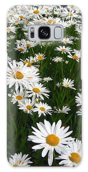Wild Daisies Galaxy Case by Dorothy Cunningham