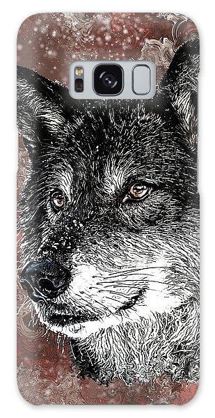Wild Dark Wolf Galaxy Case