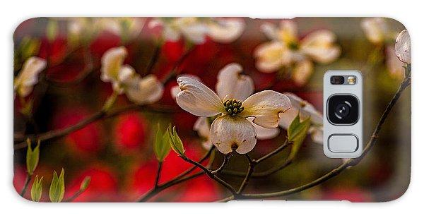 Wild Dogwood And Red Azaleas Galaxy Case