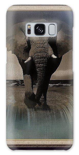 Wild Elephant Montage Galaxy Case