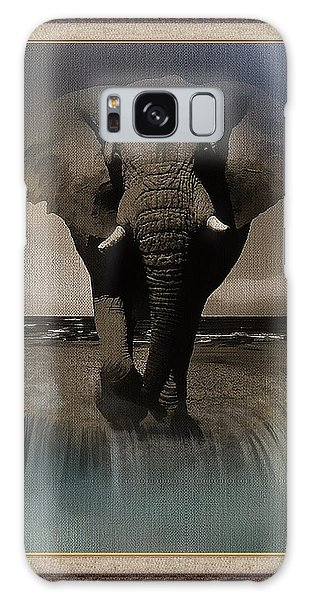 Wild Elephant Montage Galaxy Case