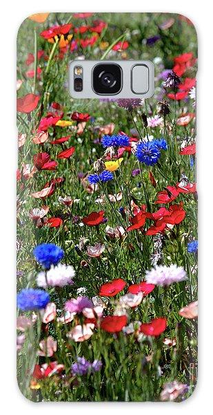 Wild Flower Meadow 2 Galaxy Case