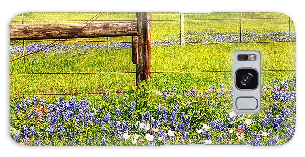 Wild Flowers And A Fence Galaxy Case