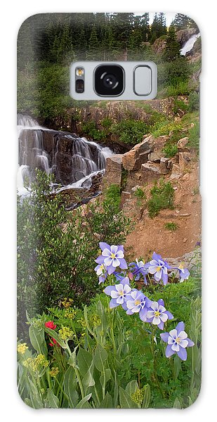 Wild Flowers And Waterfalls Galaxy Case by Steve Stuller